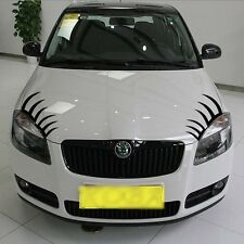 Headlight Car eyelashes sticker Decal for Chery Q3 BMW Mini eyelash 30cm