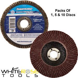 Silverline Flap Disc Sanding Grinding Finishing Aluminium Oxide 100mm 80 Grit