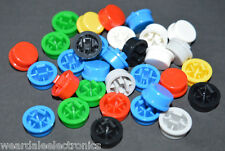 TACTILE SWITCH ROUND CAPS 7 COLOURS 10mm DIAMETER 5 EACH COLOUR PACK OF 35