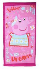Toalla de Peppa Pig para playa o piscina para niña color rosa pepa sueños