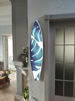 Surfboard Wall Art, Surfers gift, Tropical, Monstera, Bar Decor, Beach Decor