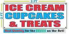 ICE CREAM CUPCAKES TREATS Banner Sign NEW Larger Size Best Quality for the $$$$$