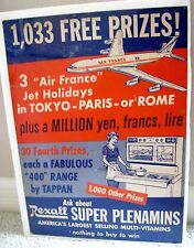 """Fantastic Vintage Advertising Poster for """"Rexall"""" Muti-Vitamins w/ Prizes *"""