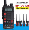 Baofeng UV-10R Walkie Talkie Radio Way Two UHF VHF Long Ham Dual Band Transceive