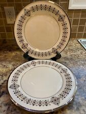 """Lenox Solitaire Accent Plate 9 3/8"""" Plate Set Of 3 Brand New"""
