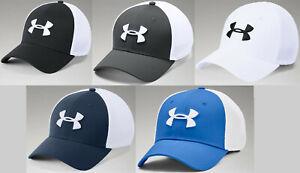 Under Armour Men's UA Threadborne Classic Mesh Golf Cap Stretch Flex Fit Cap Hat