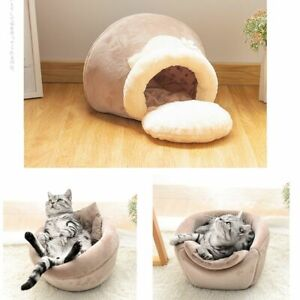 Pet Bed For Cat Dog Soft Nest Kennel House Pot Cave House Sleeping Bag Mat Tent