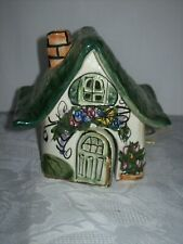 New listing Clayworks Blue Sky Colorful Ceramic House Signed Heather Goldminc