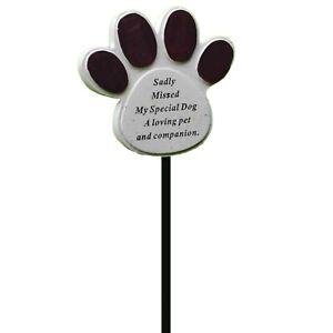 Dog Pet Memorial Tribute Plaque Stake Marker Spike Memorial Graveside Ornament