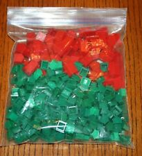 Bag of 200 Houses and 50 Hotels - Standard Monopoly Green and Red plastic