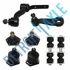 8pc Kit Front Upper + Lower Ball Joints + Pitman + Idler Arm + Sway Bar Link 4WD