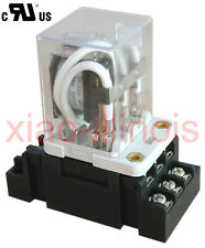 JQX-38F AC 12V/24V/120V 40A 11 Pin 3PDT Coil Power Relay With Socket-Choice