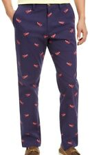 Club Room Mens Chino Pants Blue Size 40x30 Lobster Classic Fit Stretch $65 046