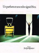 PUBLICITE ADVERTISING 104  1981  YVES SAINT LAURENT parfum femme Y