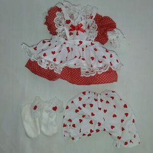 """Teddy Bear Tender Heart Treasured Toggery """"Be My Sweetheart"""" Valentine OUTFIT"""