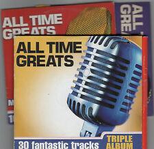 ALL TIME GREATS - PROMO 3 CD SET: PLATTERS, STEVE HARLEY, IMAGINATION, HEATWAVE