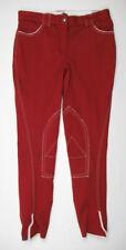 Sarm Hippique $348 Rebecca Breeches Horseback Riding Womens 26 Pants Red
