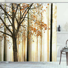 Ambesonne Shower Curtain Fall Trees Print Polyester Fabric Hooks 70 inches long
