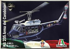 ITALERI 2739 AB 205 dei Carabinieri 1/48 Model Kit Nuovo Con Scatola