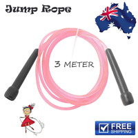 SPEED SKIPPING JUMP ROPE PINK 3 Meter BOXING CARDIO MMA SPORT WARM UP