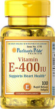 Vitamin E-400 IU x 100 Softgels Puritan's Pride - 24HR DISPATCH
