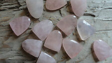 "Rose Quartz Tongue (pkg 12) stone piece for wire wrapping 1/2"" x 3/4"""