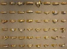 500 Ladies' 18KT. Gold Overlay CZ Rings in 5 to 11