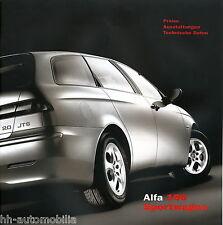 ALFA romeo 156 sport wagon liste de prix 2/03 price List 2003 auto voitures Italie