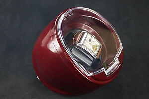 D. Time Time Tutelary Automatic Single Watch Winder, burgundy