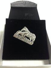 Brooch Silver 925 Animal Jewellery Safari Zebra Mare  Foal Beautiful Ladies Gift