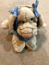 "Vintage Ganz 1981 Wrinkles the Dog Hand Puppet Large 18"" Stuffed Plush #1466523"