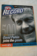 AFL Footy Record - 2000 - 500 Golden Milestone - David Parkin joins The Greats