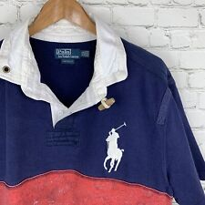Men's VNTG Polo Ralph Lauren (XXL Custom Fit) Toggle Collar Big Horse Heavy Polo