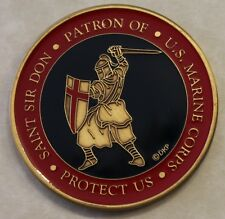 Patron Saint of Marine Corps Sir Don Prayer Protect Us Challenge Coin
