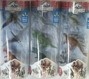 Jurassic World Walmart Exclusive Hasbro 2015 NEW Lot of 3 Colors May Vary