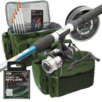 Travel 6ft Telescopic Fishing Rod & Reel Combo Setup With Carryall & Tackle NGT
