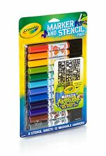 Crayola Marker Airbrush Accessory Pack - Marker & Stencil Accessory Pack - Boy