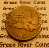 1857 Flying Eagle  Cent  Coin  #HT57-1