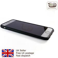 Caso de goma suave Gel de Silicona para Iphone 7 Plus-Negro-Reino Unido Vendedor