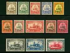 German Colonies - MARSHALL ISLANDS 1901  Kaiser's YACHT set  Sc# 13-25  MINT MH