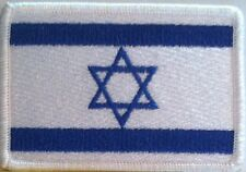ISRAEL  Flag Iron-On Patch Jew Military Tactical Emblem White Border