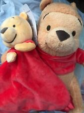 Disney Baby Winnie The Pooh Plush With Security Blanket