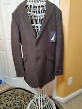 Nautica Mens Brown Checks 2- Button Suit Jacket  42 L NWT Jacket Only.