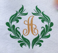 Personalized * Monogrammed Embroidered  Hand or Kitchen Towel Made To Order