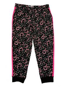 LuLaRoe NWT Jax Black + Pink Plus Size Joggers Size 3XL