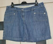 Next  Blue Denim  Style 'THE SHORT' Shorts Size 16.  Good Condition