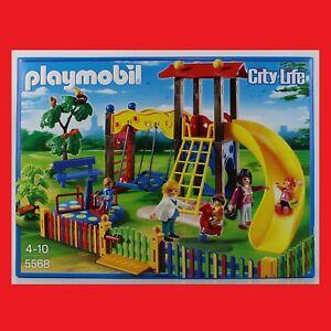 Playmobil 5568 City Life Kinderspielplatz Kindergarten Rutsche Schaukel NEU