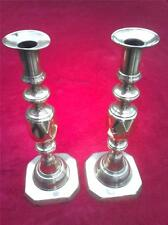 PAIR OF QUEEN OF DIAMONDS VICTORIA'S JUBILEE SOLID BRASS STICKS CANDLESTICKS