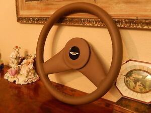 Aston Martin Lagonda Serie 4 Steering Wheel Dark Tan Leather New Old Stock