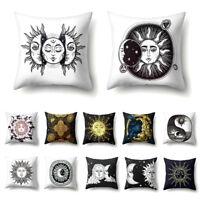 BE_ CO_ JT_ Sun Moon Printed Throw Pillow Case Home Cafe CarSofa Bed Cushion Cov